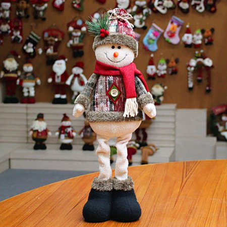 Standing Figurine Toys Xmas Santa Claus Snowman Reindeer Figure Plush Dolls Christmas Decorations Ornaments Home Indoor Table Ornaments Christmas Party Tree Hanging Decor Toys Gifts for Kids Friends ()