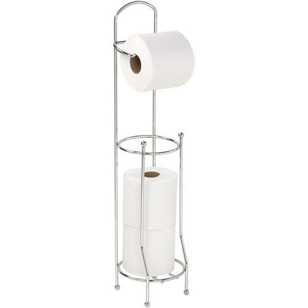 Bath Bliss Chrome Toilet Paper Holder and Dispenser Toilet Roll Holder Stand
