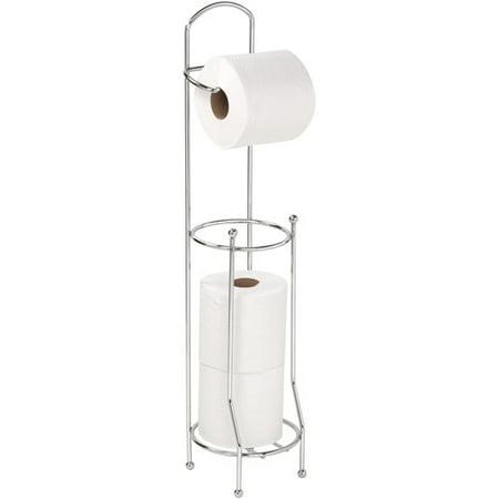Bath Bliss Chrome Toilet Paper Holder and Dispenser