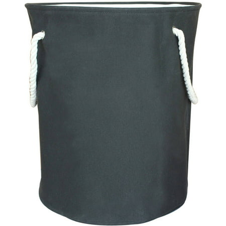 Canvas Laundry Hamper With Rope Handles Black