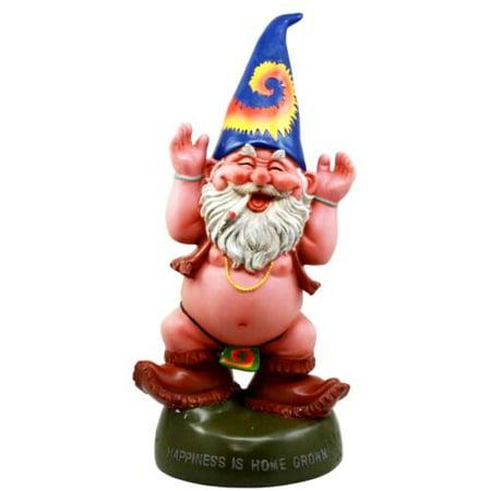 Gnome Statue Figurine - Ebros Free Spirited Pot Smoking Hippie Garden Gnome Statue Patio Outdoor Poolside Figurine 13.5