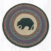 "Earth Rugs RP-43 Black Bear Round Patch 27"" x 27"""