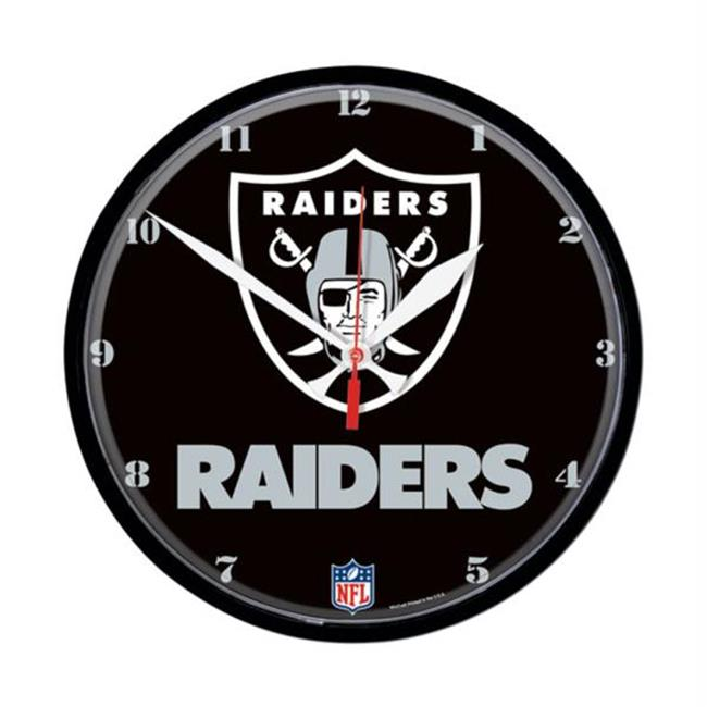 Wincraft WIN-2902210 Oakland Raiders NFL Round Wall Clock