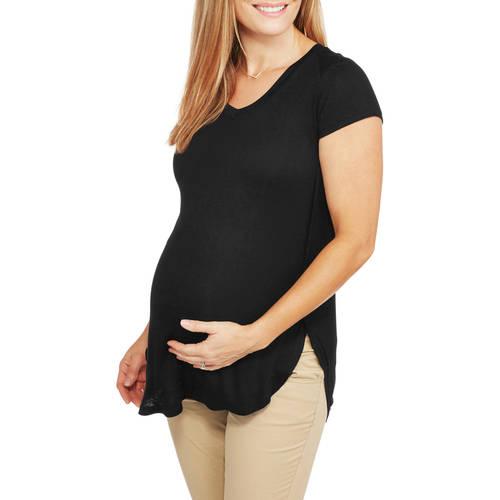 Inspire Maternity Short Sleeve Printed Vneck Easy Tee