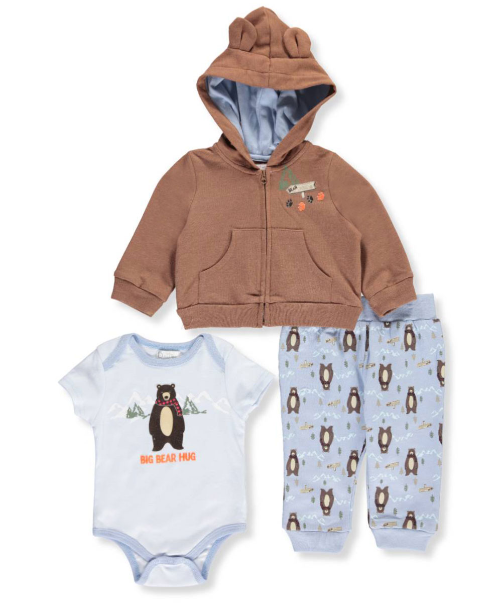 Critter Hoodie 3 Piece Outfit Set (Baby Boys)