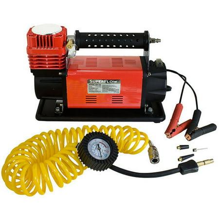 Powered Compressor - SuperFlow MV90 Portable 45 Amp 12V Battery Powered Air Compressor w/ Carry Bag