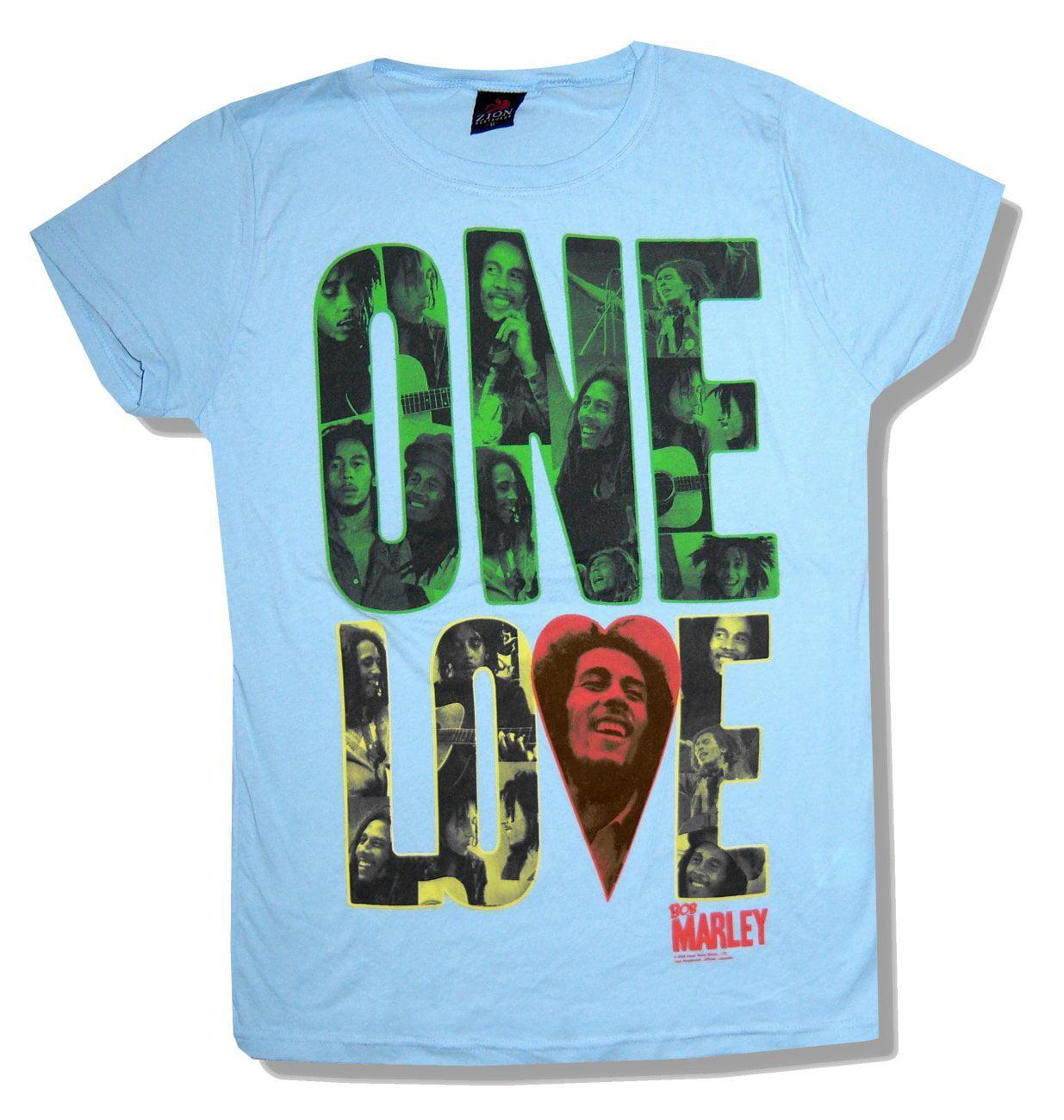 Bob Marley Reggae Superstar Girls Juniors Pink T Shirt New Official Zion