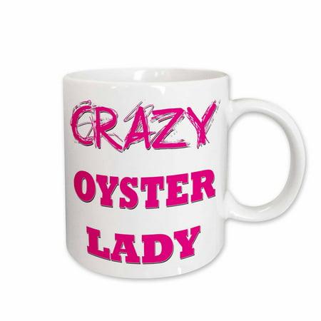 3dRose Crazy Oyster Lady, Ceramic Mug, 11-ounce