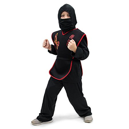 Boo! Inc. Sneaky Ninja Children's Boy Halloween Dress Up Roleplay Costume - Disfraz De Halloween De Piratas