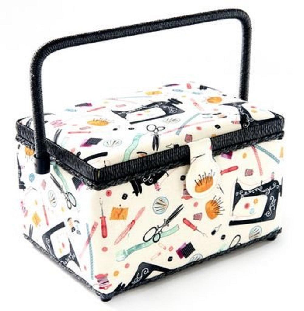 "Dritz St Jane Medium Rectangle Sewing Basket Box 10.25""x7.5""x6"""