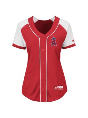 Los Angeles Angels Majestic Women's Plus Size Fashion Replica Jersey - Red