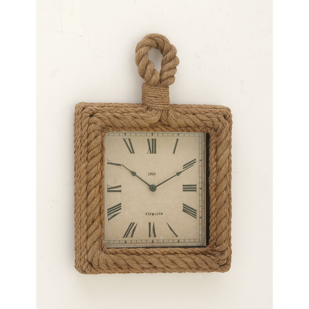 Simply Stylish Wood Rope Wall Clock