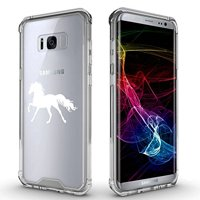 For Samsung Galaxy Clear Shockproof Bumper Case Hard Cover Horse (White For Samsung Galaxy S8)