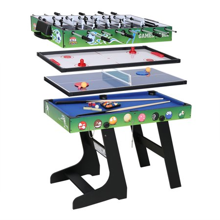 4FT 4-in-1 Multi Combo Game Table- Hockey Table, Foosball Table