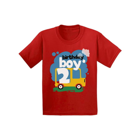 Awkward Styles Birthday Boy Toddler Shirt Toy Truck Birthday Shirt for 2 Year Old Boy Birthday Gifts for Toddler Boys 2nd Birthday Party Outfit Truck Themed Birthday Party Cute 2nd B-Day T Shirt (Cute Boys Website)