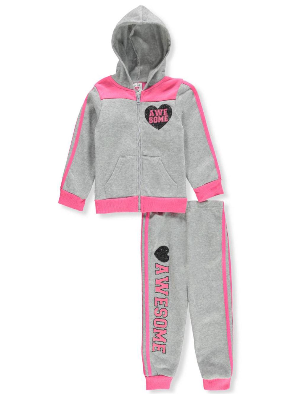 Miss Pink Girls' 2-Piece Sweatsuit Pants Set