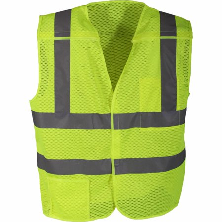 Rothco - BRIGHT GREEN REFLECTIVE 5 POINT BREAKAWAY TRAFFIC WORK SECURITY  SAFETY VEST NEW - Walmart.com 9d9ac4dd1a8