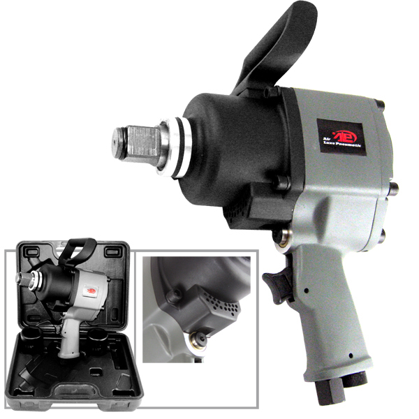 """Airluxe Pneumatic 1"""" Twin Hammer, Pistol Style Air Impact Wrench Tool"""