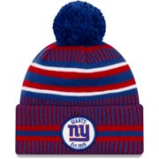 New York Giants New Era 2019 NFL Sideline Home Official Sport Knit Hat - Royal/Red - OSFA