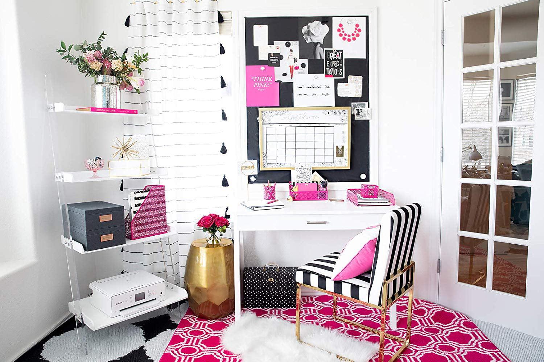 Blu Monaco Office Supplies Hot Pink Desk Accessories for ...