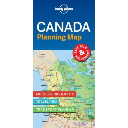 Travel guide: lonely planet canada planning map - folded map: 9781787014589 (Lonely Planet Canada)