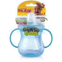 Nuby Grip N' Sip Two-Handle 10 oz No-Spill Cup with Soft Spout, Colors May Vary 1 Each