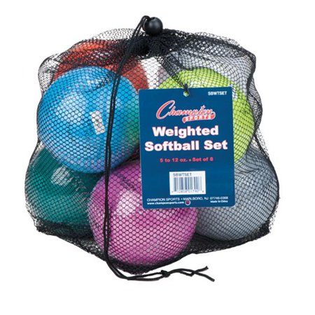 Champion Sports SBWTSET 12 in. Weighted Training Softball Set, Multi color - Set of 8 - image 1 of 1