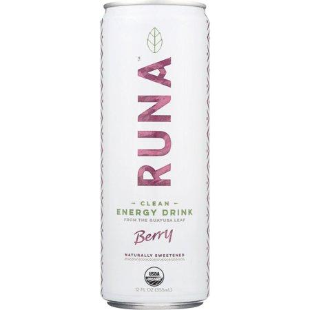 Runa Guayusa Beverage  Sparkling  Berry  12 Oz  Pack Of 12