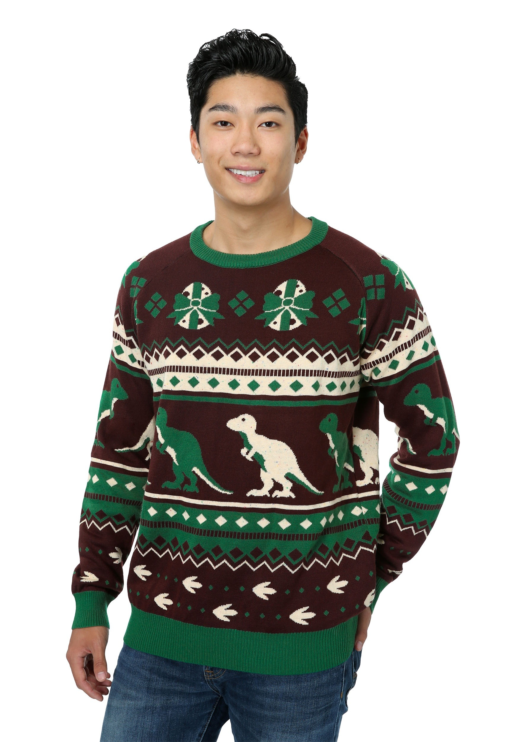 Mens Christmas Sweaters.Men S Holiday Dinosaur Ugly Christmas Sweater