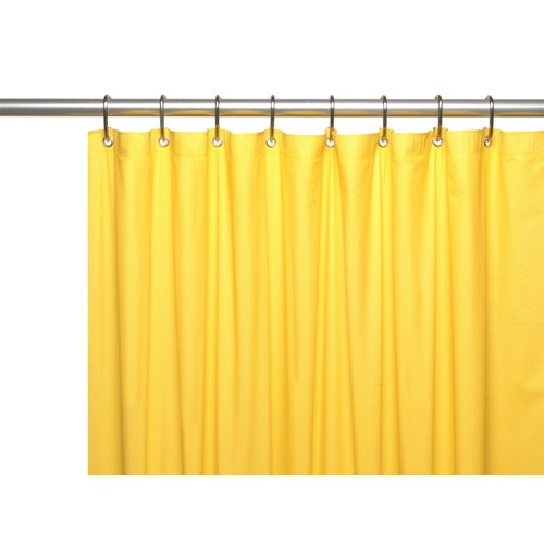 Hotel Collection, 8 Gauge Vinyl Shower Curtain Liner w/ Metal Grommets in Canary Yellow