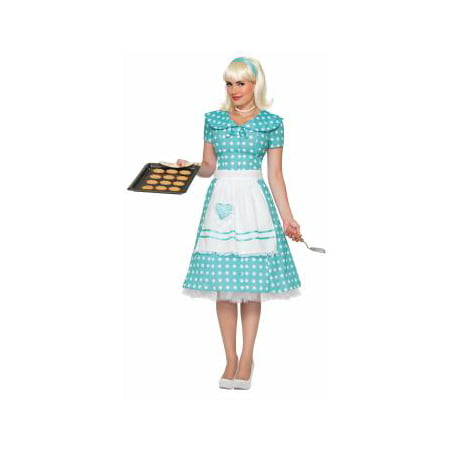 CO-50'S-HOUSEWIFE-XS/S (Forum Woman's Zombie Housewife Costume)