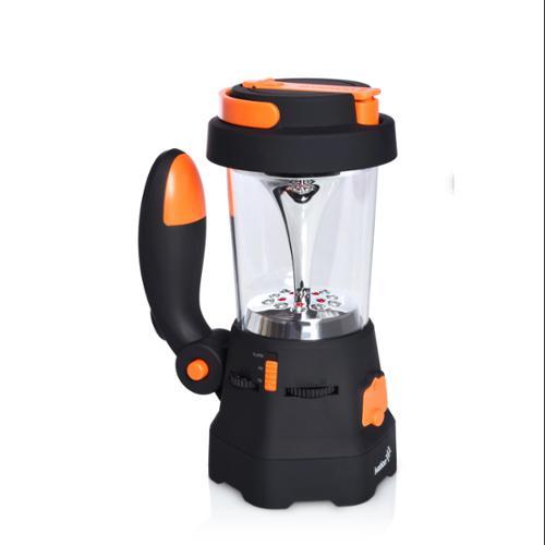Ivation Hand Crank LED Camping Lantern & Flashlight, AM/FM Radio, Mobile Charger