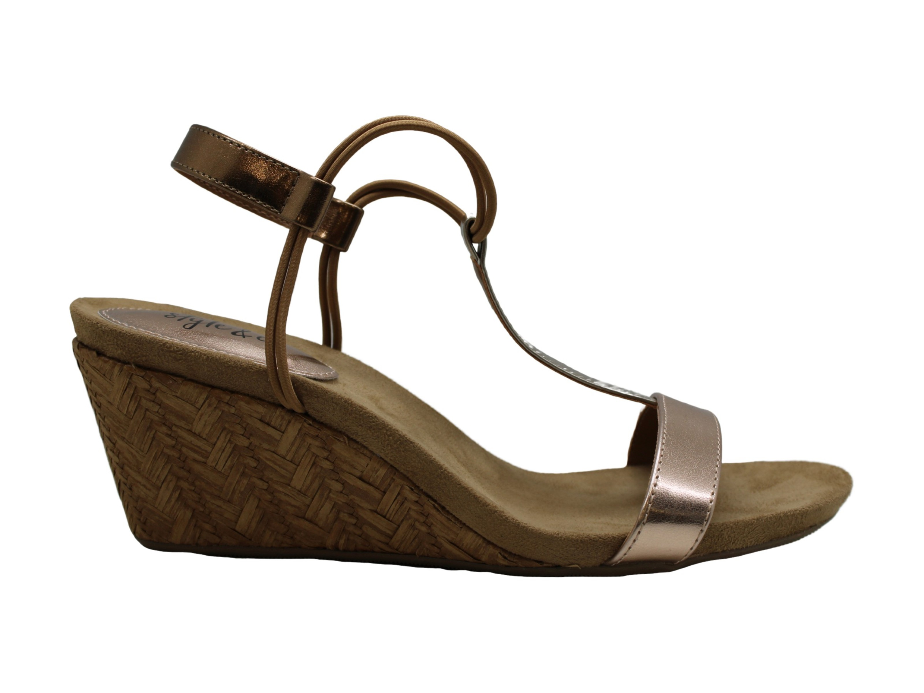 Style /& Co Womens Mulan Leather Open Toe Formal Platform Sandals