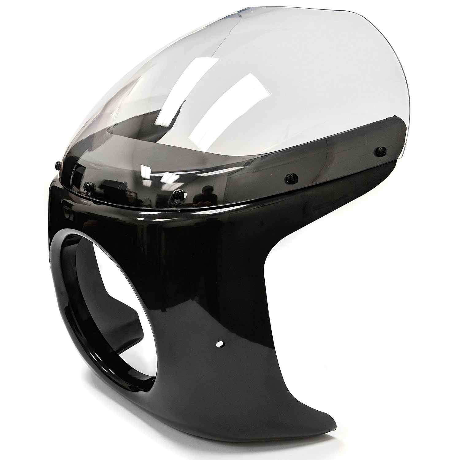 Krator Motorcycle 7 inch Headlight Fairing Screen Black & Clear for Kawsaki ZL 600 900 1000 Eliminator (Modification Maybe Required) - image 1 of 8