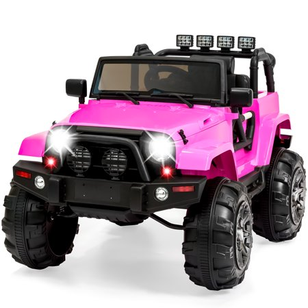 Best Choice Products 12V Ride On Car Truck W  Remote Control  3 Speeds  Spring Suspension  Led Light   Pink