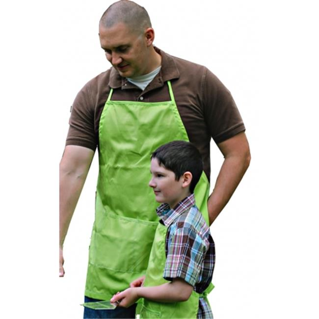 A Greener Kitchen AP021 Mens Organic Cotton Full Apron - Lime Green