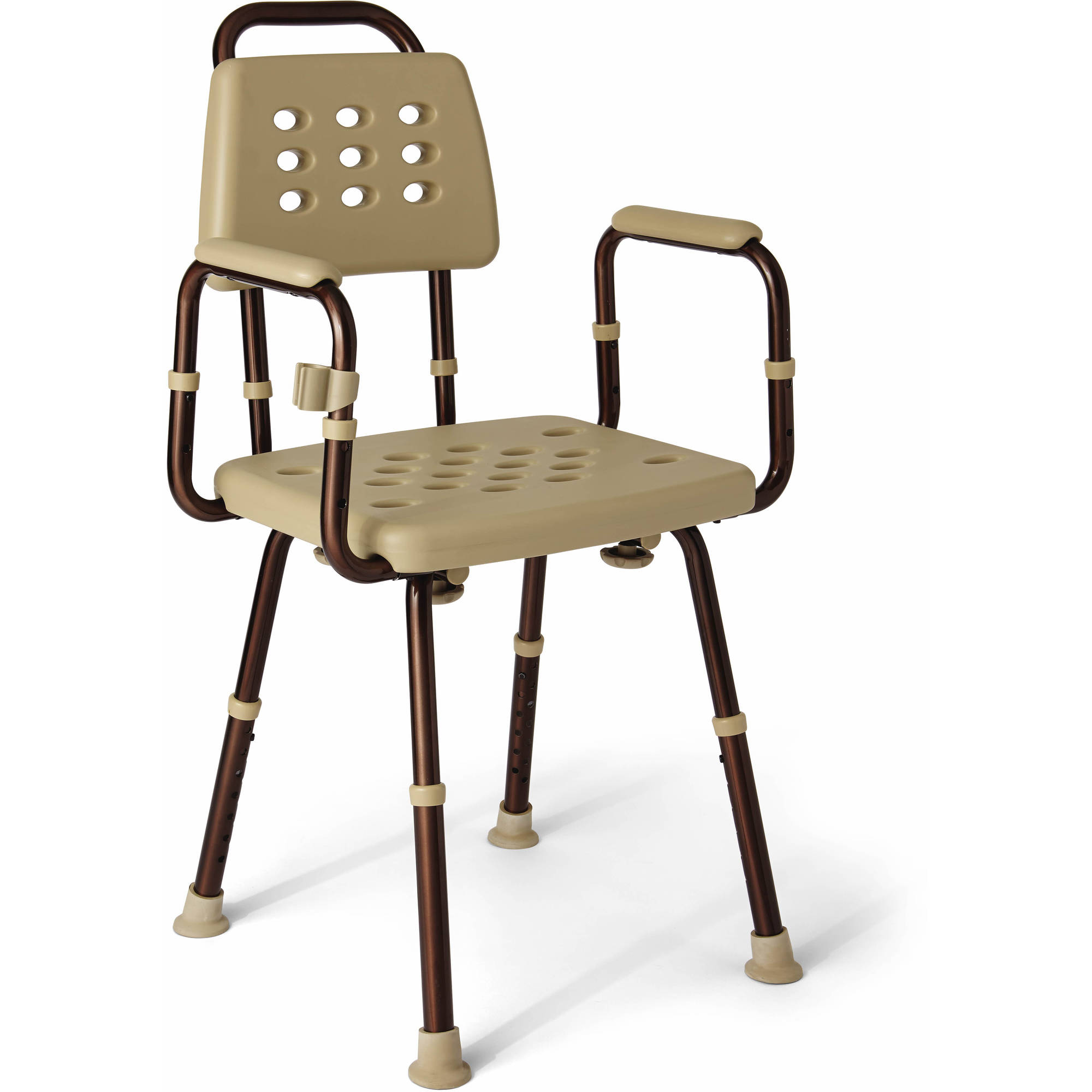 Medline Elements Adjustable Shower Chair with Microban Antimicrobial Treatment