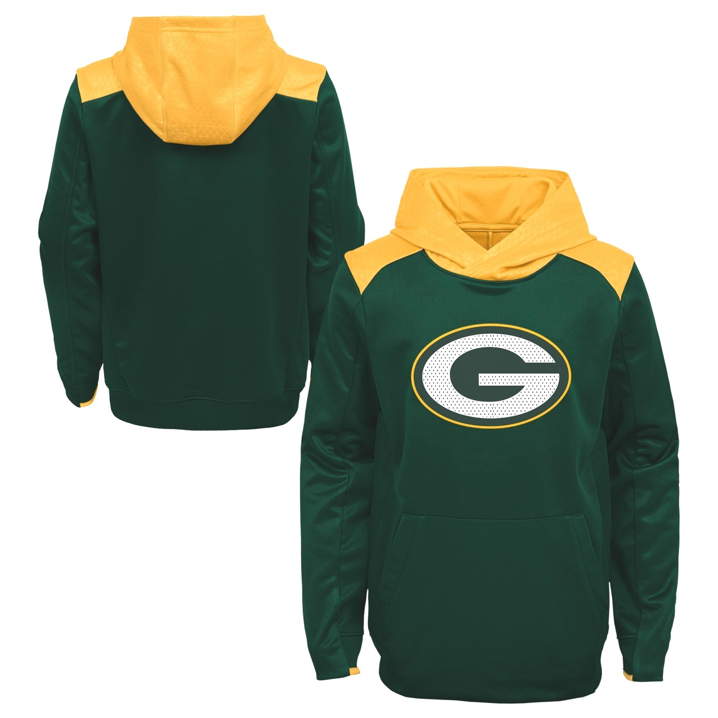 "Green Bay Packers Youth NFL ""Off the Grid"" Pullover Hooded Sweatshirt"