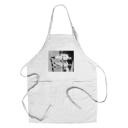 Brooklyn Dodgers Photo - Hans Lobert, NY Giants; Joe Schultz Brooklyn Dodgers, Baseball Photo (Cotton/Polyester Chef's Apron)