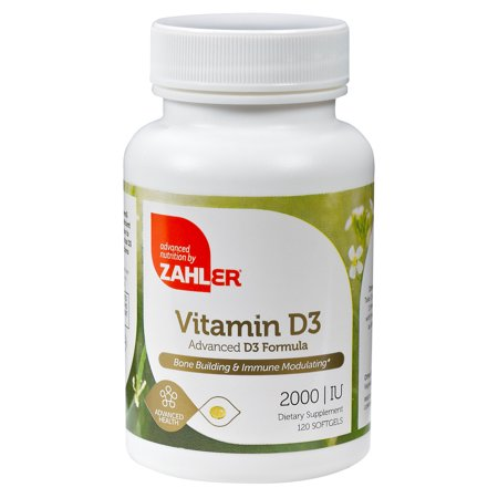 Targeting System (Zahler Vitamin D3 2000IU, All-Natural Supplement Supporting Bone Muscle Teeth and Immune System, Advanced Formula Targeting Vitamin D Deficiencies, Certified Kosher, 120 Softgels )
