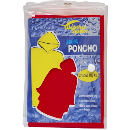 Youth PVC poncho in color matching carry case (Cheap Ponchos)
