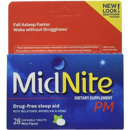 - MidNite Pm Sleep Aid Chewable Tablets 28 ea (Pack of 3)