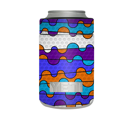 Skin Decal For Yeti Rambler Colster Cup / Colorful Swirl Print
