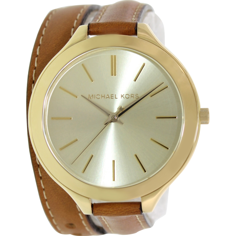 Michael Kors Women's Runway MK2256 Brown Leather Quartz Watch