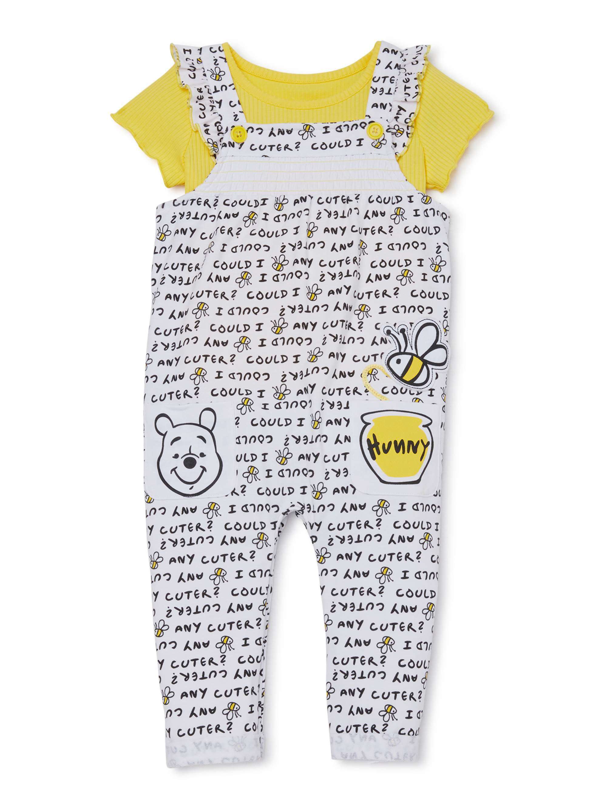 newborn to 9 months Disney Winnie the Pooh 2-pack rompers