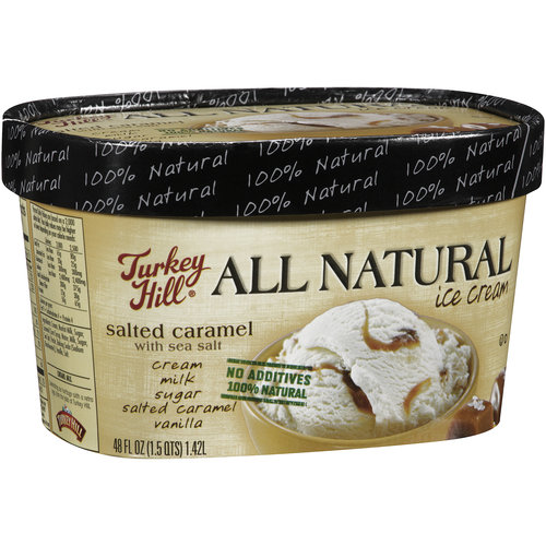 Turkey Hill All Natural Salted Caramel with Sea Salt Ice Cream, 48 fl oz