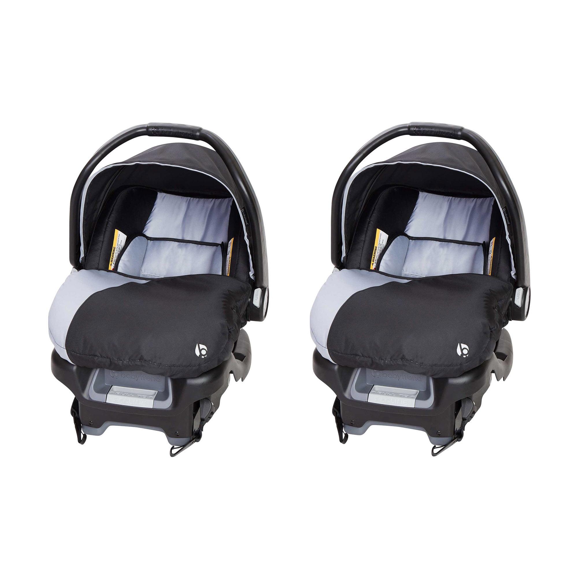 Baby Trend Flex-Loc Adjustable 35 Pound Infant Car Seat & Base, Stormy (2 Pack)
