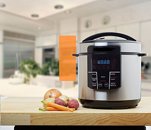 Electric Digital Pressure Multi Cooker One Pot 6QT 1000W capacity, One touch cooking button LED Slow Cooker Rice Cooker Saute Stainless Steel Safety Lock