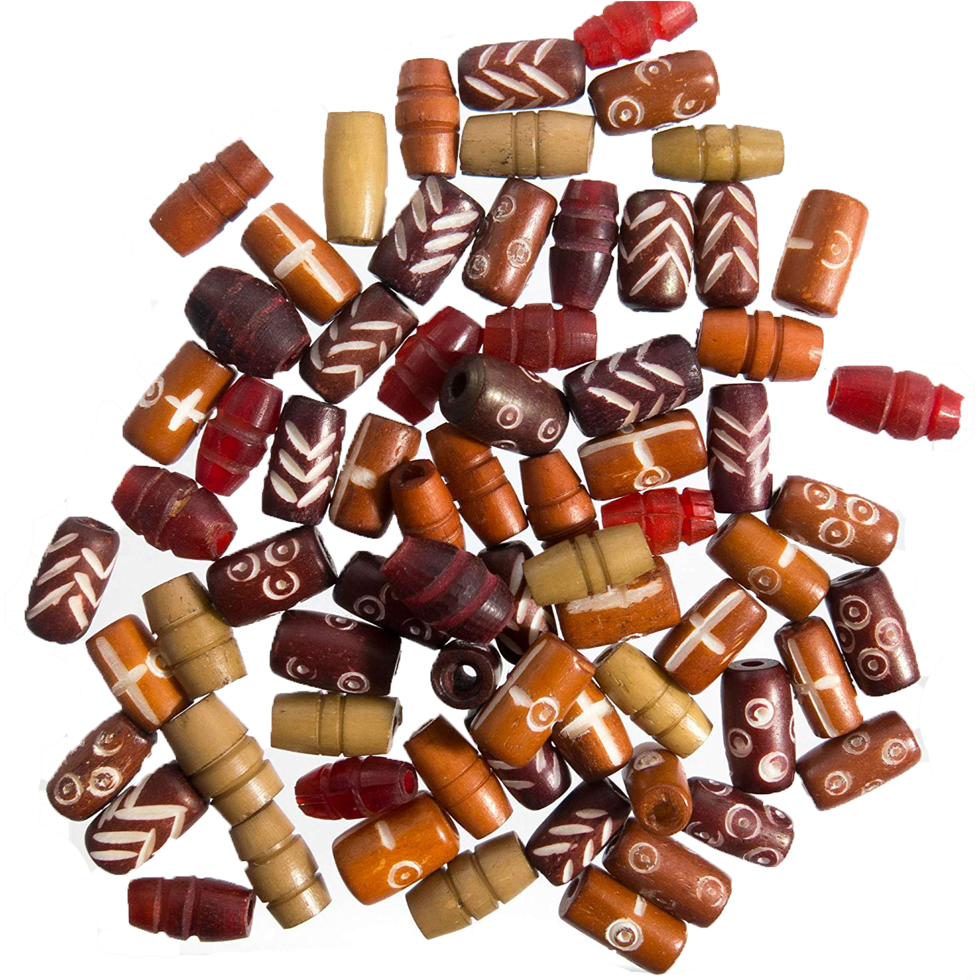 Frogsac 6 Ounces Ox-Bone Beads for DIY Crafts & Jewelry Making  - Approx Count : 225-325 Beads - 3 combos