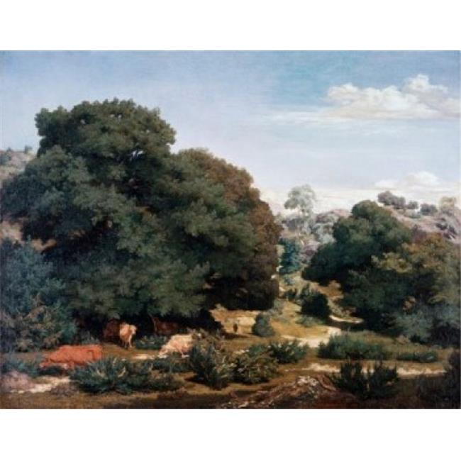 Posterazzi SAL2621655 In the Auvergne Mountains Pierre E. Theodore Rousseau 1812-1867 French Oil on Canvas Poster Print - 18 x 24 in. - image 1 of 1